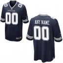 Hommes Dallas Cowboys Nike Navy maillot de jeu personnalisé