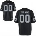 Hommes Oakland Raiders Nike black maillot de jeu personnalisé