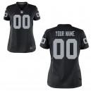 Femmes Oakland Raiders Nike black maillot de jeu personnalisé