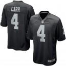 Hommes Oakland Raiders Derek Carr Nike Noir Jeu maillots