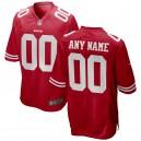 Hommes de San Francisco 49ers Nike Rouge 2018 maillots de jeu personnalisés