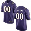 Hommes Baltimore Ravens Nike Violet Personnalisé Jeu maillots
