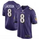 Hommes Baltimore Ravens Lamar Jackson Nike Violet Jeu maillots