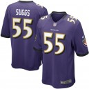 Mens Baltimore Ravens Terrell Suggs Nike Violet maillots de jeu