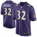 Hommes Baltimore Ravens Eric Weddle Nike Violet Jeu maillots