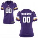 Femmes Minnesota Vikings Nike Violet Personnalisé Jeu maillots