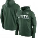 De hommes Jets de New York Nike vert À-côté Circuit Pullover Hoodie de Performance