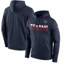 Houston Texans Nike Sideline marine Circuit Pullover Hoodie de Performance masculine