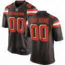 Browns de Cleveland de hommes Nike marron maillot de jeu personnalisé