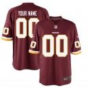 Nike de Washington Redskins hommes Bordeaux maillot de jeu personnalisé