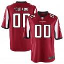 Atlanta Falcons Nike masculine maillot rouge de jeu personnalisé