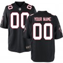 Atlanta Falcons Nike masculine maillot Noir de jeu personnalisé