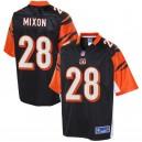 Maillots de joueur noir hommes Cincinnati Bengals Joe Mixon NFL Pro Line
