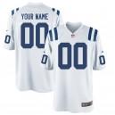 Nike hommes Indianapolis Colts jeu personnalisé maillot blanc