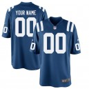 Hommes Indianapolis Colts Nike Royal Custom maillots de jeu