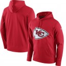 Hommes Kansas City Chiefs Nike rouge circuit logo Essential performance pull Hoodie