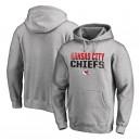Hommes Kansas City Chiefs NFL Pro Line par Fanatics marque Ash emblématique collection fade out pull à capuche