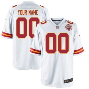 Nike men's Kansas City Chiefs jeu personnalisé maillot blanc