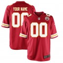 Men's Kansas City Chiefs maillot de jeu Nike Rouge Custom