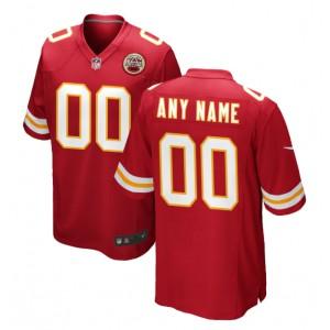 Men's Kansas City Chiefs maillot de jeu Nike Rouge Custom