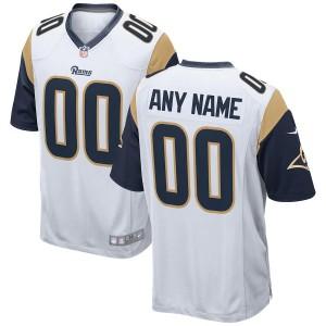 Los Angeles Rams Hommes Nike White 2018 maillot de jeu personnalisé