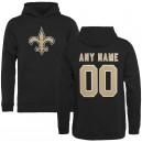 New Orleans Saints NFL Pro Line par Fanatics marque noir nom personnalisé & Number logo pull Hoodie