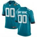 Jacksonville jaguars Nike Teal personnalisé alternatif maillot de jeu pour hommes