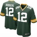 Hommes Green Bay Packers Aaron Rodgers maillot de jeu Nike vert
