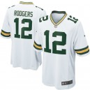 Hommes Green Bay Packers Aaron Rodgers maillot de jeu blanc Nike