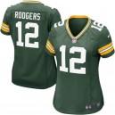 Green Bay Packers pour femmes Aaron Rodgers maillot de jeu Nike vert