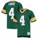 Les hommes de Green Bay Packers Brett Favre Mitchell & Ness Green 1996 réplique joueur retraité maillot