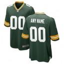 Green Bay Packers Nike Green maillot de jeu personnalisé pour homme