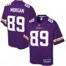 Minnesota Vikings David Morgan NFL Pro ligne violet équipe couleur joueur maillot hommes