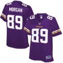 Minnesota Vikings David Morgan NFL Pro ligne violet équipe couleur maillot des femmes