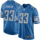Maillot de jeux pour hommes Detroit Lions Kerryon Johnson Nike Blue