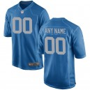 Hommes Detroit Lions Nike Royal Custom alternatif maillot de jeu