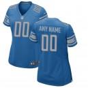 Les femmes de Detroit Lions Nike bleu personnalisé équipe couleur maillot de jeu