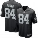 Oakland Raiders Antonio Brown Nike maillot de jeu noir pour hommes