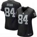 Oakland Raiders Antonio Brown Nike maillot de jeu noir pour femmes