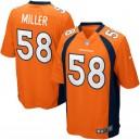 Mens Denver Broncos von Miller Nike orange maillot de jeu