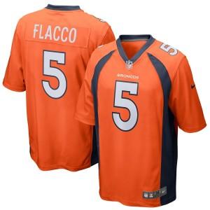 Maillot de jeu homme Denver Broncos Joe Flacco Nike orange