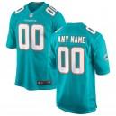 Hommes Miami Dolphins Nike Aqua 2018 maillot de jeu personnalisé