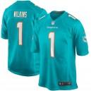 Christian Wilkins Miami Dolphins Nike 2019 NFL Draft première ronde Pick maillot de jeu – Aqua