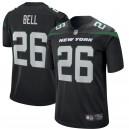 New York jets Le'Veon Bell Nike Stealth Noir maillot de jeu pour hommes