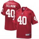 Hommes Arizona Cardinals Patrick Tillman NFL Pro ligne Cardinal retraité joueur maillot