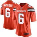 Cleveland Browns Baker Mayfield Nike maillot de jeu orange pour hommes