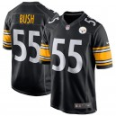 Devin Bush Pittsburgh Steelers Nike 2019 NFL Draft première ronde Pick maillot de jeu – noir