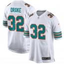 Maillot homme Miami Dolphins kenyan Drake Nike Blanc Throwback