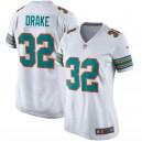 Maillot de sport femme Miami Dolphins kenyan Drake Nike Blanc Throwback