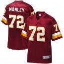 Washington Redskins hommes Dexter Manley NFL Pro ligne Bourgogne retraité joueur jeu maillot